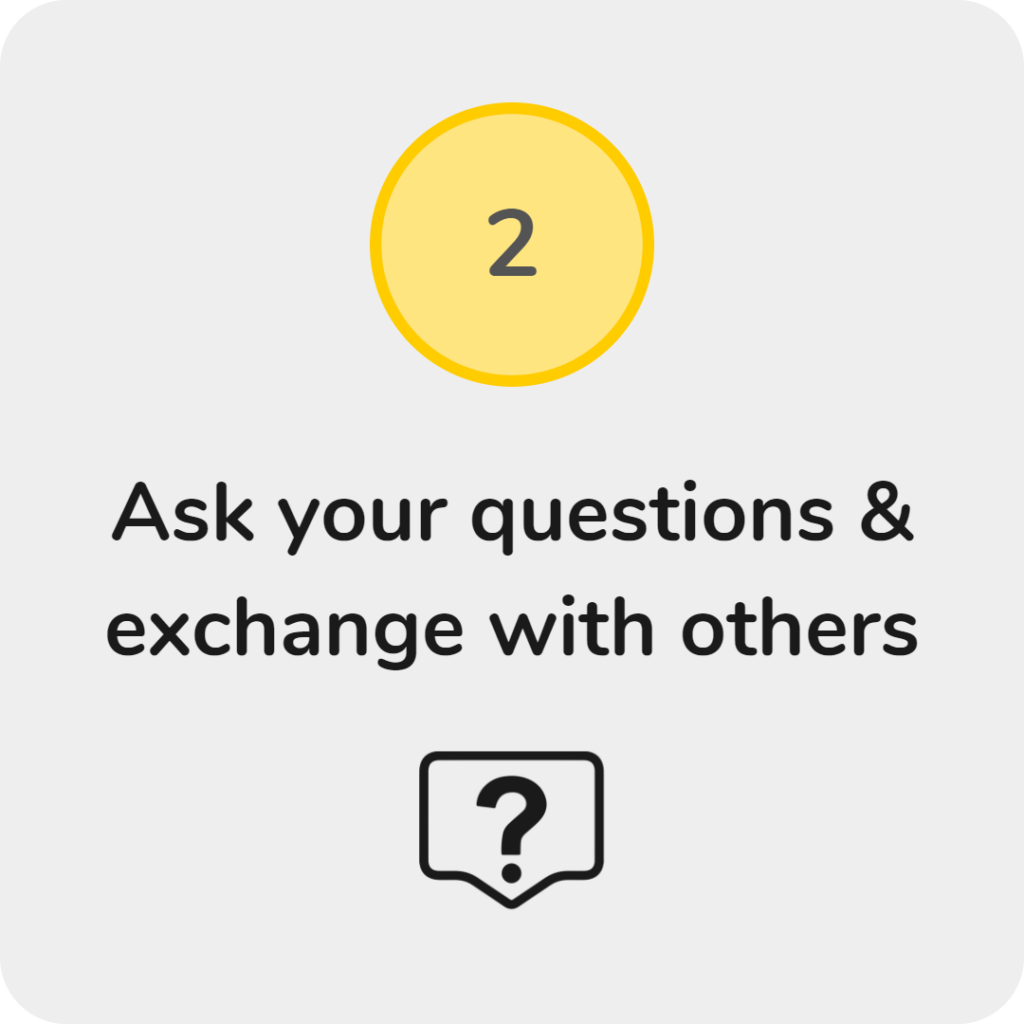 ask questions exchange with others