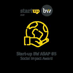 Social impact award startup bw